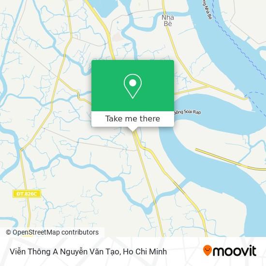 Viễn Thông A Nguyễn Văn Tạo map