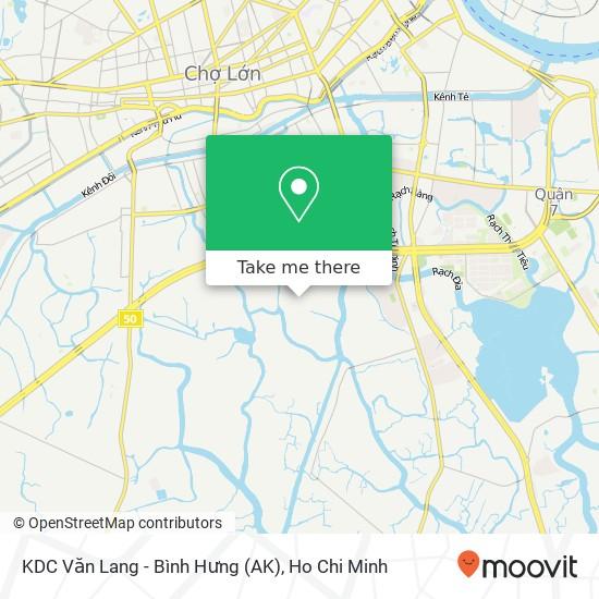 KDC Văn Lang - Bình Hưng (AK)地圖
