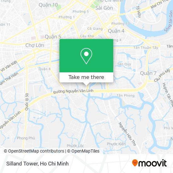 Silland Tower map