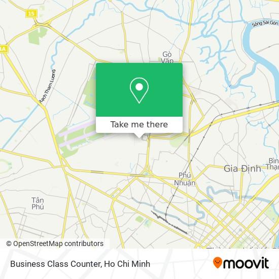 Business Class Counter map