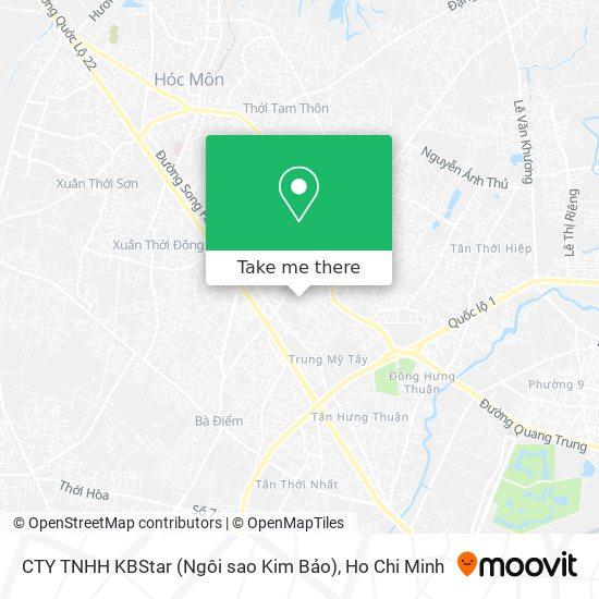 CTY TNHH KBStar (Ngôi sao Kim Bảo)地圖