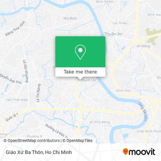 Giáo Xứ Ba Thôn地圖