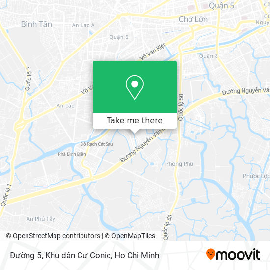 Đường 5, Khu dân Cư Conic地圖