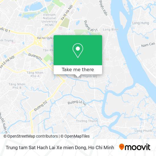 Trung tam Sat Hach Lai Xe mien Dong map