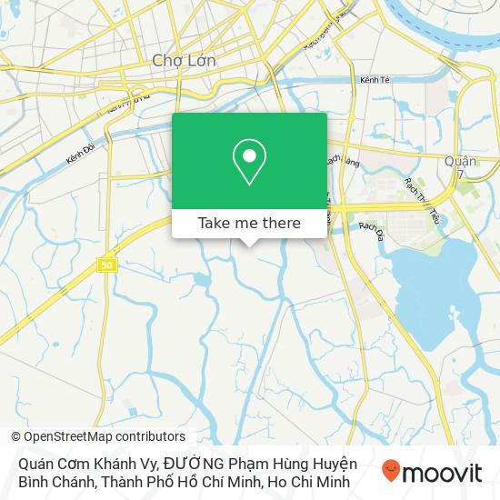 Quán Cơm Khánh Vy, ĐƯỜNG Phạm Hùng Huyện Bình Chánh, Thành Phố Hồ Chí Minh地圖