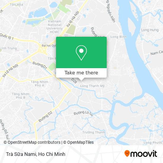 Trà Sữa Nami map