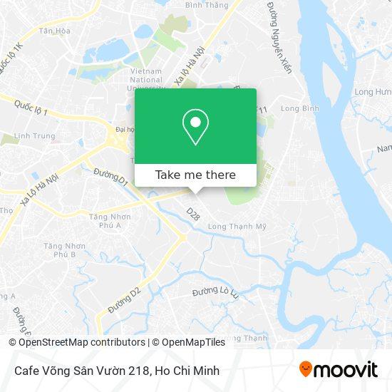 Cafe Võng Sân Vườn 218 map