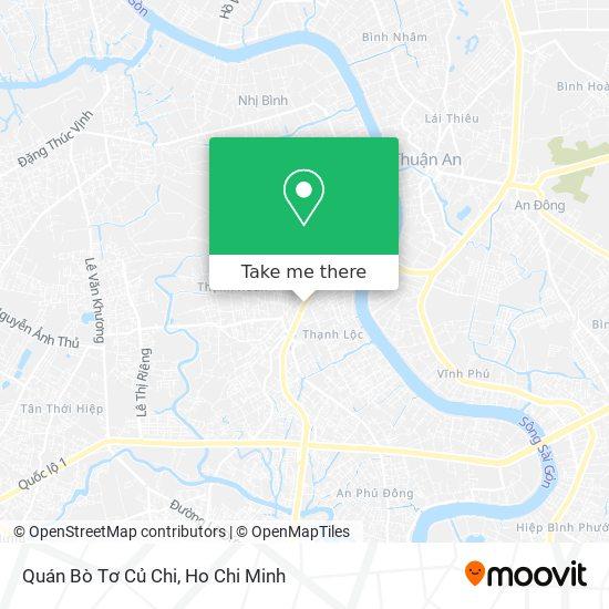 Quán Bò Tơ Củ Chi map
