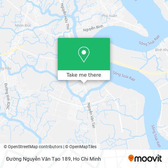 Đường Nguyễn Văn Tạo 189 map