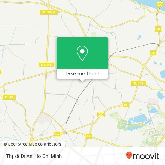 Thị xã Dĩ An map