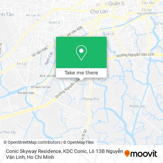 Conic Skyway Residence, KDC Conic, Lô 13B Nguyễn Văn Linh地圖