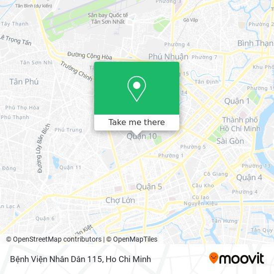 Bệnh Viện Nhân Dân 115 map