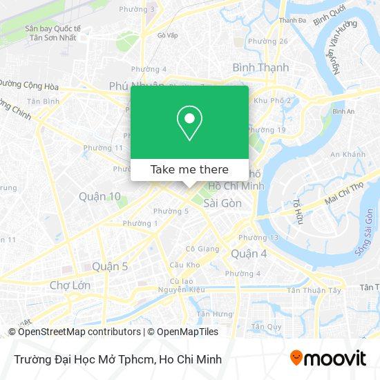 Trường Đại Học Mở Tphcm map