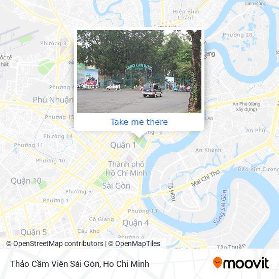 Thảo Cầm Viên Sài Gòn map