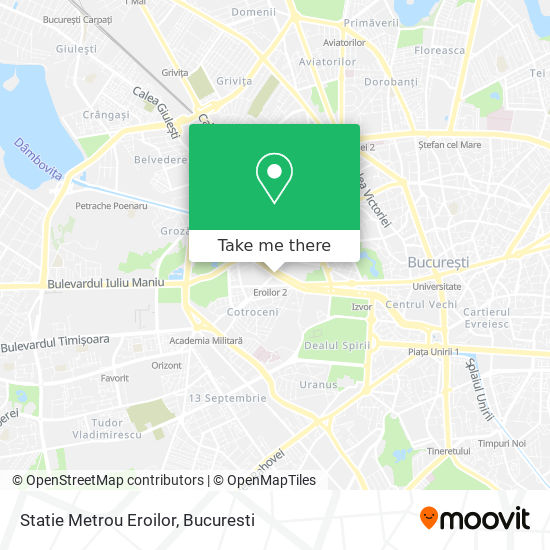 Statie Metrou Eroilor map