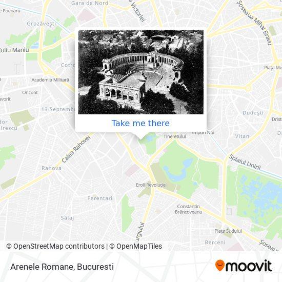 Arenele Romane map
