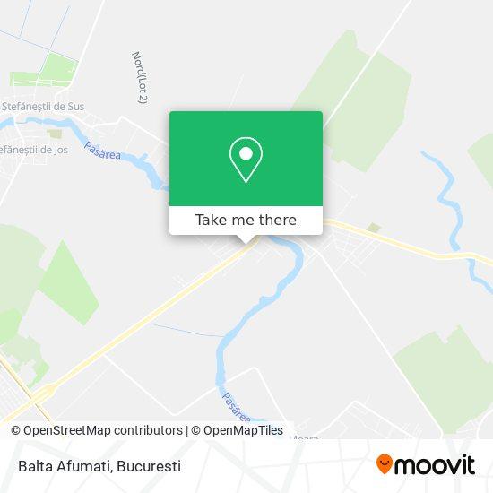 Balta Afumati map