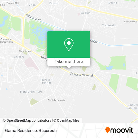 Gama Residence map