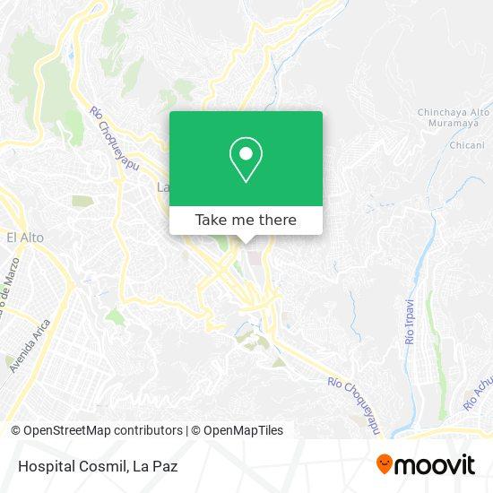 Hospital Cosmil map