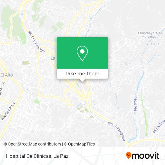 Hospital De Clinicas map