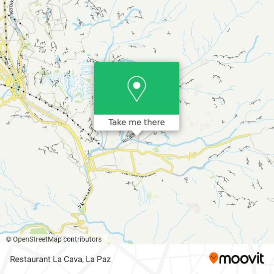 Restaurant La Cava map
