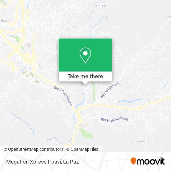 Megatlon Xpress Irpavi map