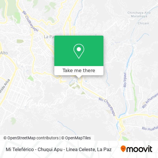 Mi Teleférico - Chuqui Apu - Línea Celeste map