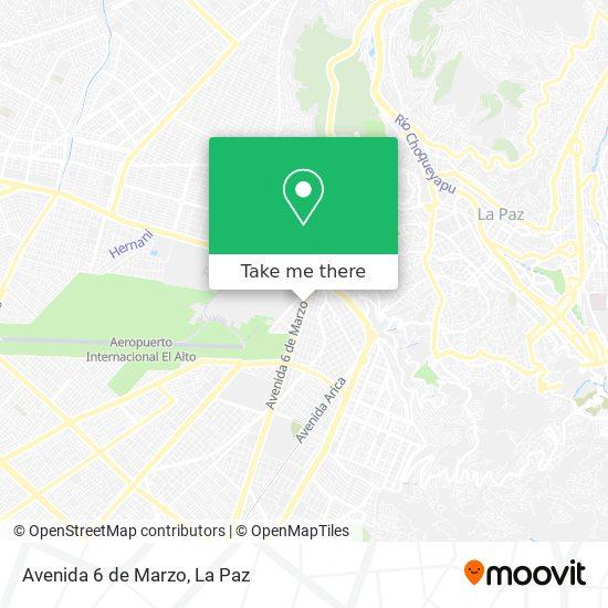 Avenida 6 de Marzo map