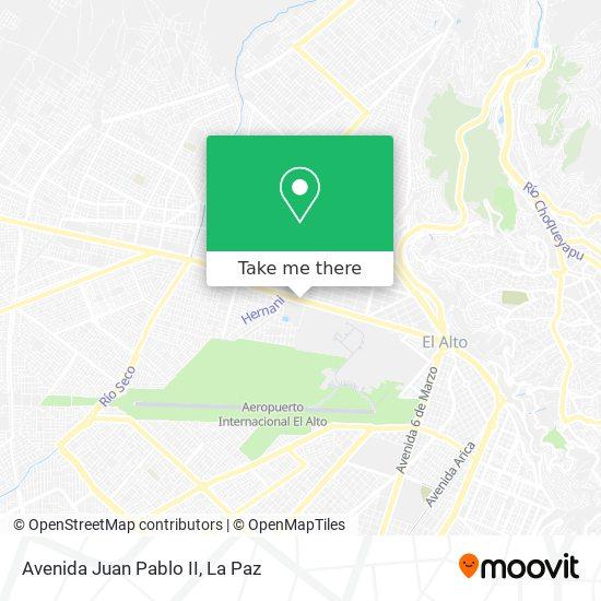 Avenida Juan Pablo II map