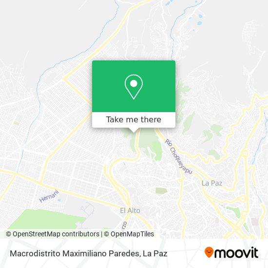 Macrodistrito Maximiliano Paredes map