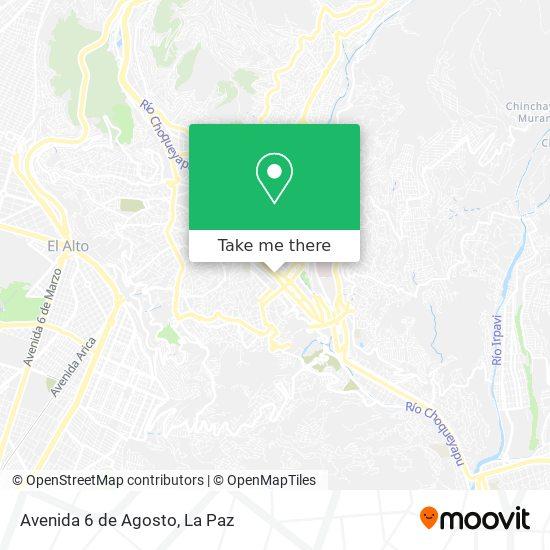 Avenida 6 de Agosto map