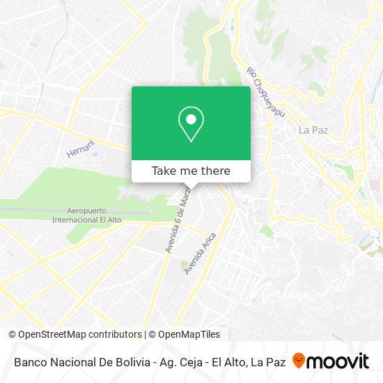 Banco Nacional De Bolivia - Ag. Ceja - El Alto map