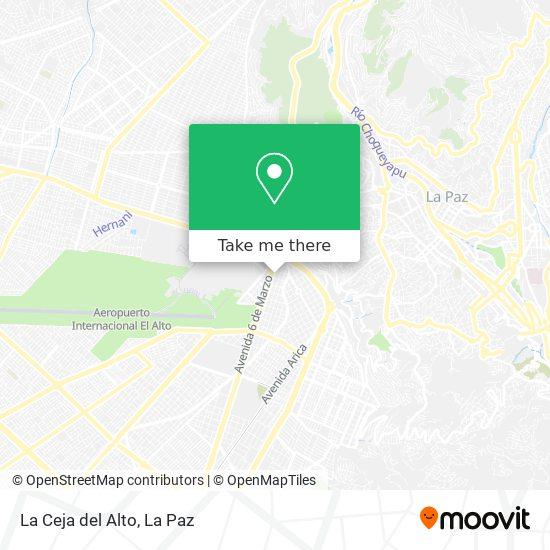 La Ceja del Alto map