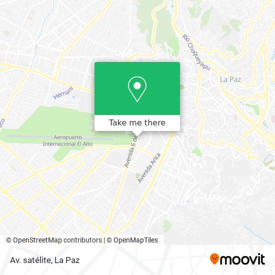 Av. satélite map