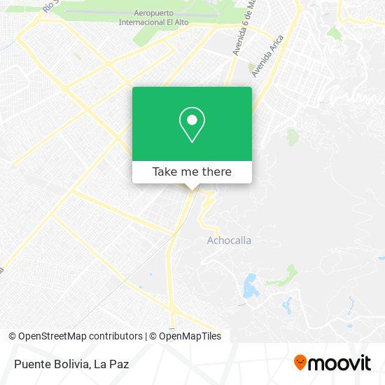 Puente Bolivia map