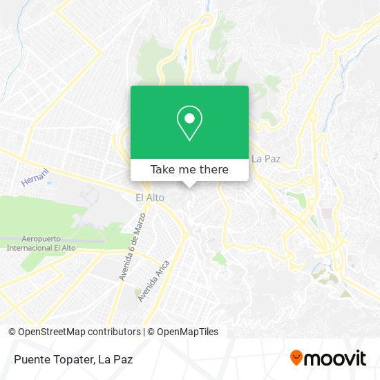 Puente Topater map