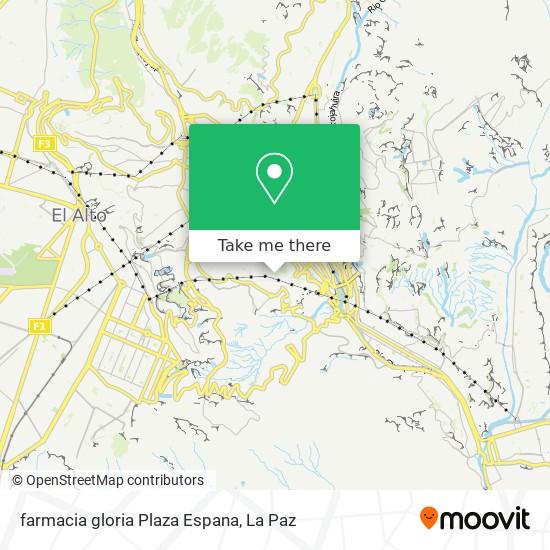 farmacia gloria Plaza Espana map