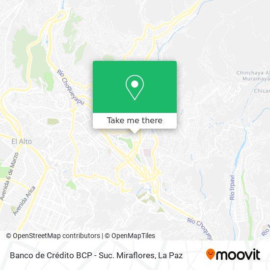 Banco de Crédito BCP - Suc. Miraflores map