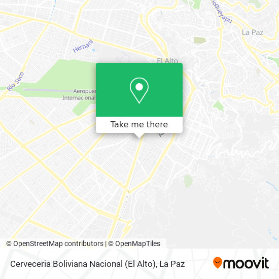 Cerveceria Boliviana Nacional (El Alto) map