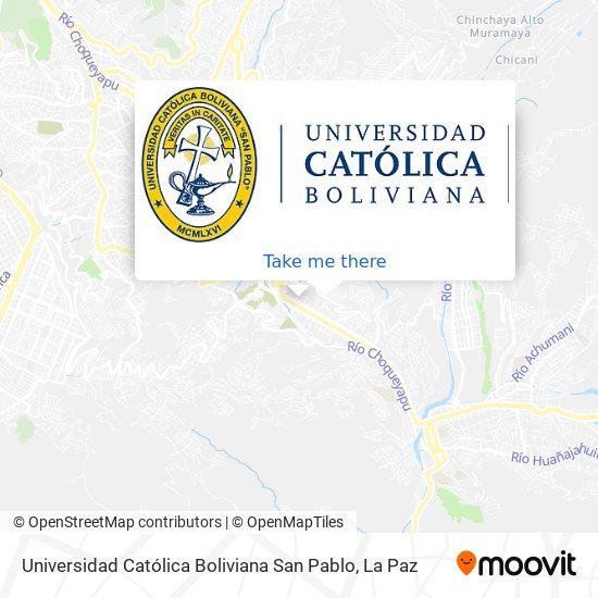 Universidad Católica Boliviana San Pablo map