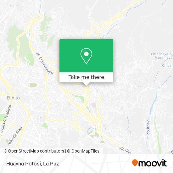 Huayna Potosi map