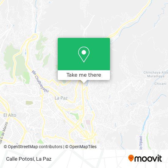 Calle Potosí map
