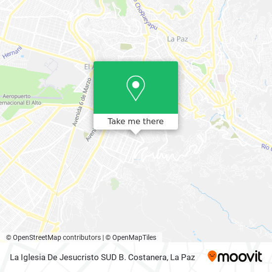 La Iglesia De Jesucristo SUD B. Costanera map