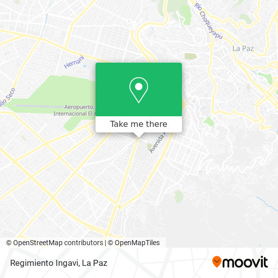 Regimiento Ingavi map