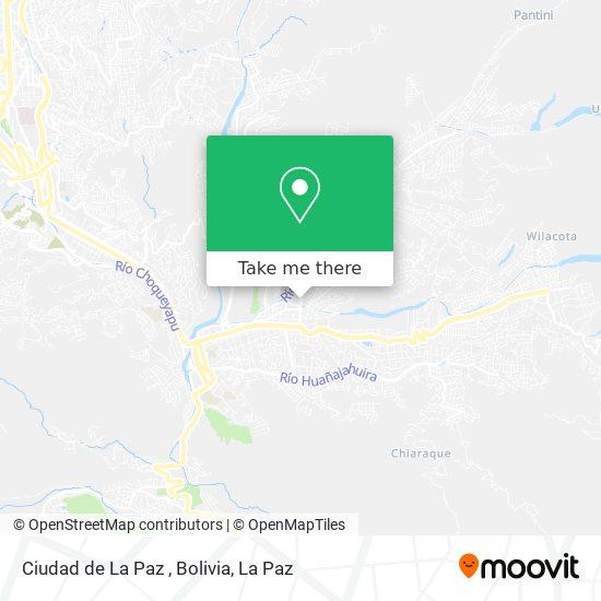 Ciudad de La Paz , Bolivia map