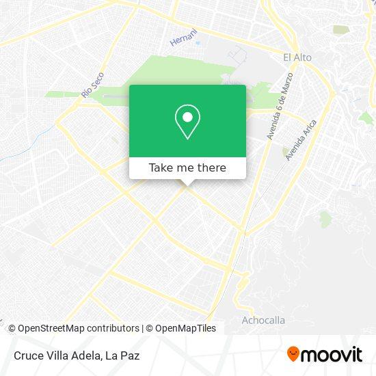 Cruce Villa Adela map