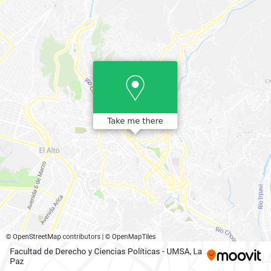 Facultad de Derecho y Ciencias Políticas - UMSA map