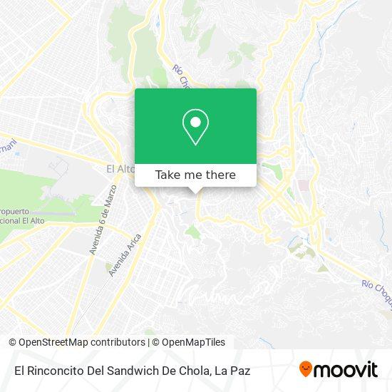 El Rinconcito Del Sandwich De Chola map