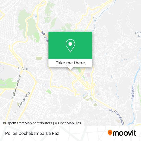 Pollos Cochabamba map
