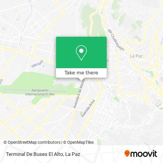 Terminal De Buses El Alto map